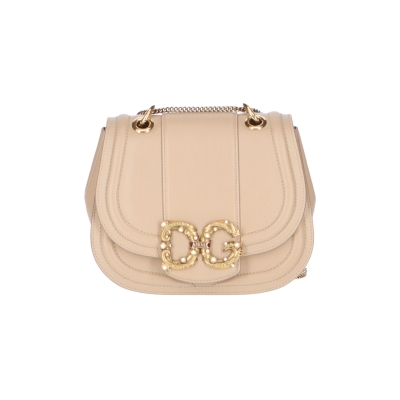 DOLCE & GABBANA DG AMORE LEATHER BAG