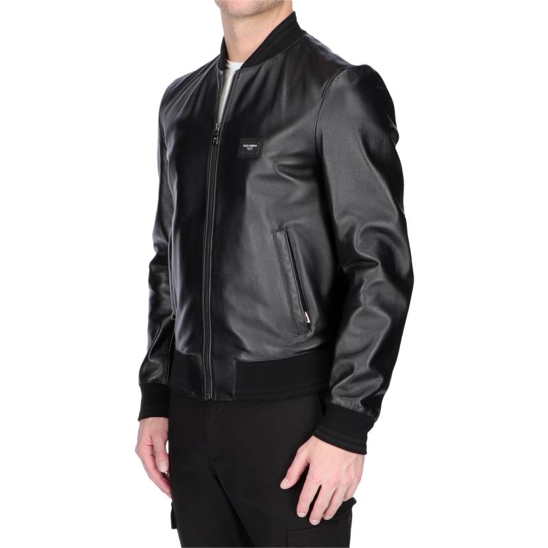 BOMBER LEATHER JACKET DOLCE & GABBANA