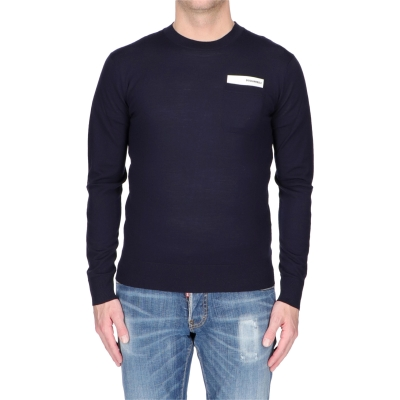 Wool Knit Sweater With Pocket DSQUARED2