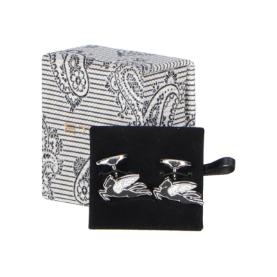 PEGASO CUFFLINKS WITH RHINESTONES ETRO