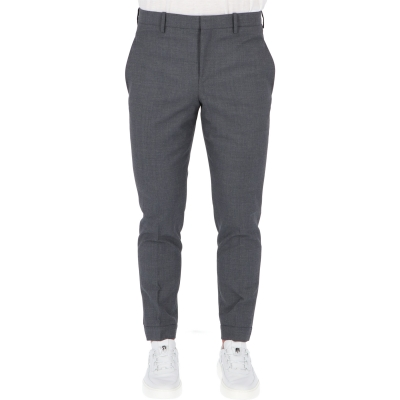 NEIL BARRETT TRAVEL BACK ZIP-HEM SLIM TROUSERS