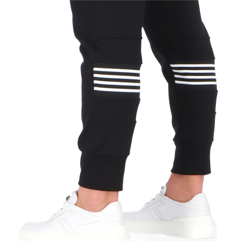 NEIL BARRET STRIPE SKINNY BONDED SWEATPANTS