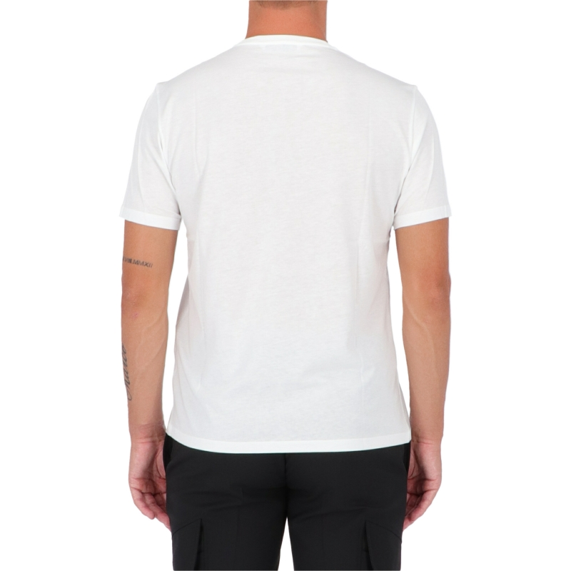 T-SHIRT STAMPA FULMINI IN COTONE E MODAL NEIL BARRET
