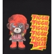 NEIL BARRETT ZIGGIE BEAR PRINT T-SHIRT