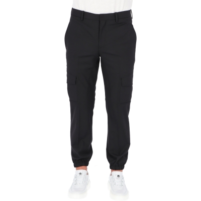 TRAVEL RIB CUFF SLIM TROUSERS
