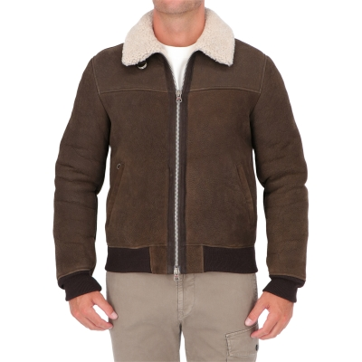 STEWART GARLAND SHEARLING JACKET