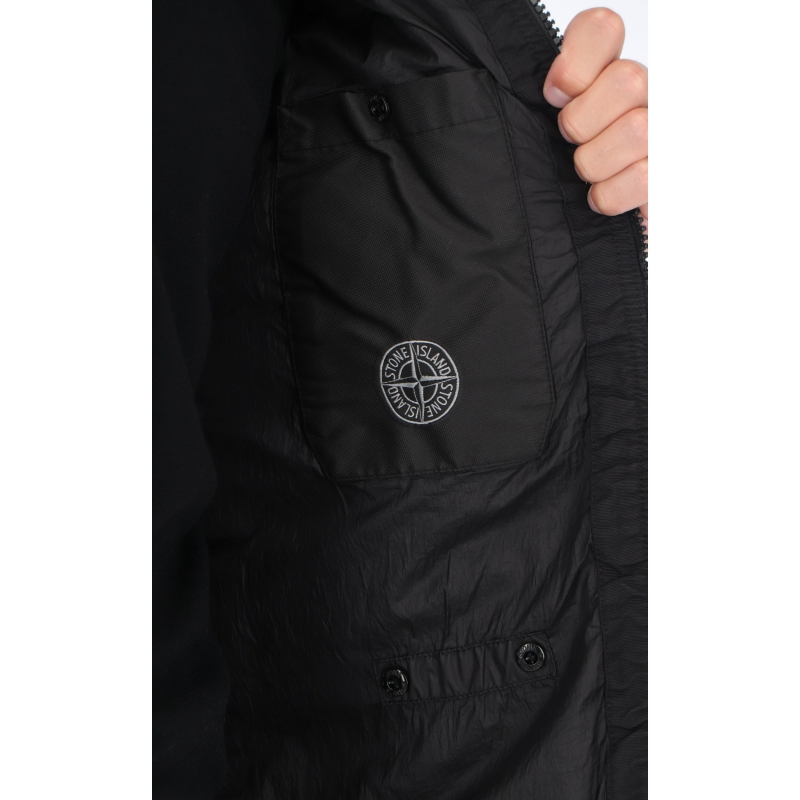 GIACCA GARMENT DYED CRINKLE REPS NY DOWN STONE ISLAND