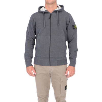STONE ISLAND COTTON ZIP SWEATSHIRT