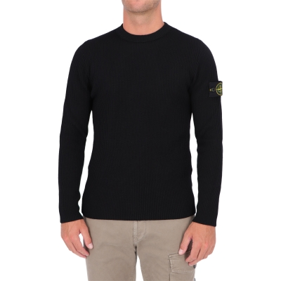 STONE ISLAND CREWNECK SWEATER IN WOOLEN FULL RIB