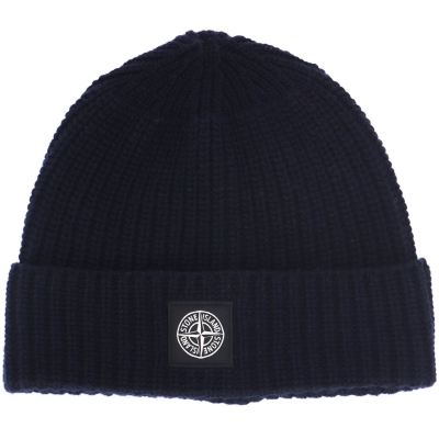 STONE ISLAND RIBBED GEELONG WOOL BEANIE