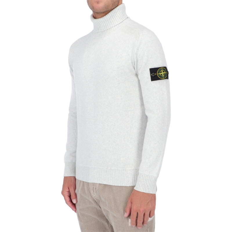 STONE ISLAND TURTLENECK IN WINTER COTTON