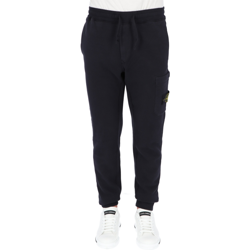 STONE ISLAND CARGO PANTS IN COTON FLEECE