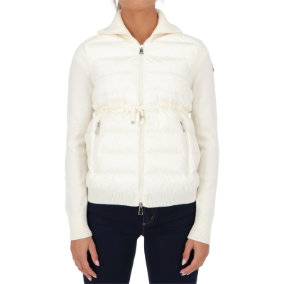 MONCLER WOOL PADDED CARDIGAN
