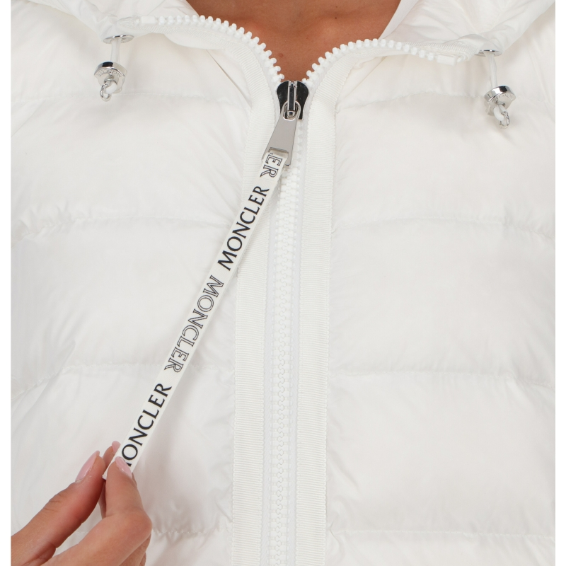 MONCLER NYLON AND COTTON PADDED CARDIGAN