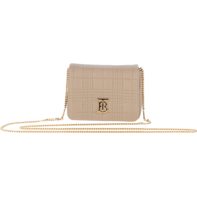 BURBERRY MINI MATELASSE' LEATHER BAG