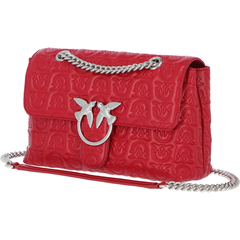 PINKO LOVE CLASSIC PUFF MONOGRAM LEATHER BAG