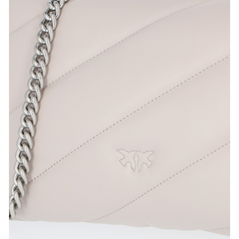 PINKO LOVE CLASSIC MAXI QUILT LEATHER BAG