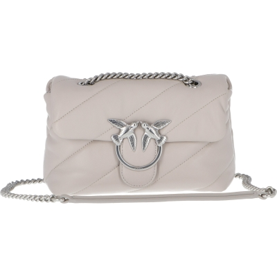 PINKO LOVE MINI MAXI QUILT LEATHER BAG