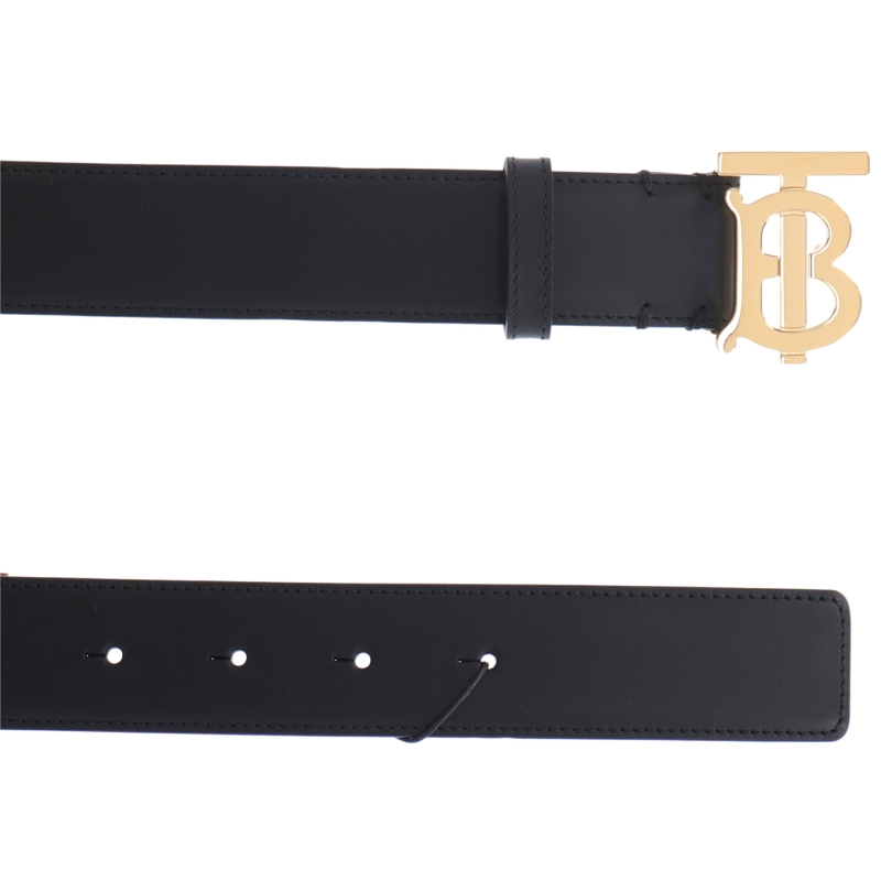 BURBERRY TB LOGO BUCKLE LEATHER BELT