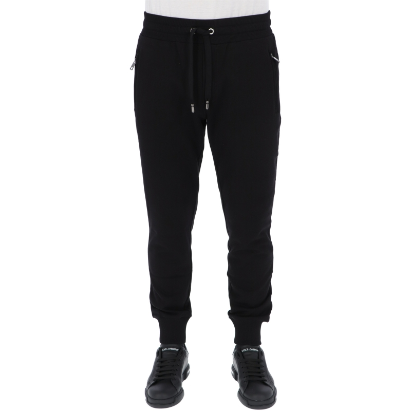 DOLCE & GABBANA COTTON JOGGERS WITH LOGO