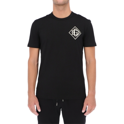 DOLCE & GABBANA COTTON T-SHIRT WITH DG LOGO
