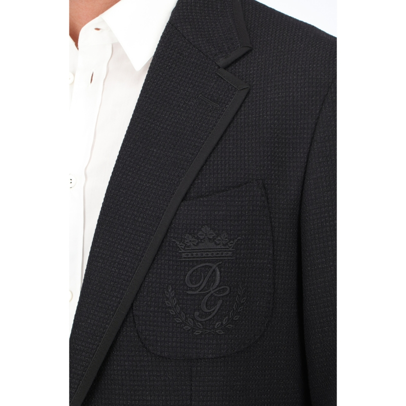 DOLCE & GABBANA STRECH JERSEY JACKET WITH EMBROIDERY