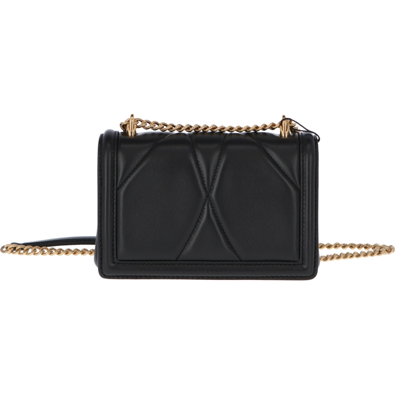 DOLCE & GABBANA MINI DEVOTION LEATHER BAG