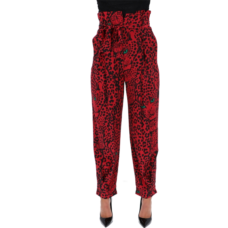 RED VALENTINO SILD PRINTED TROUSERS