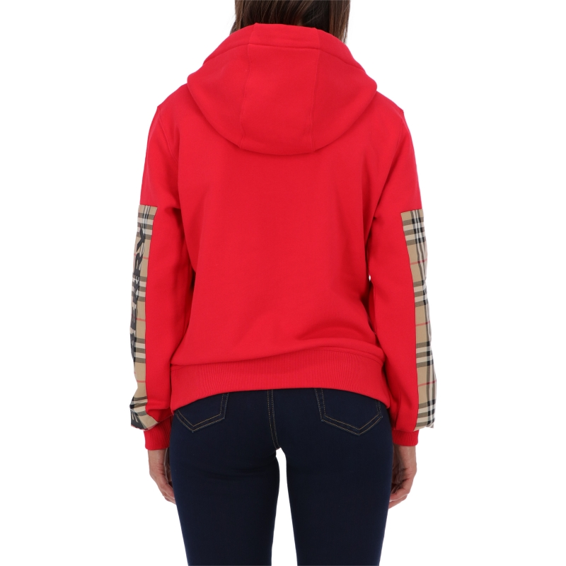 BURBERRY RED AUBREE COTTON SWEATSHIRT