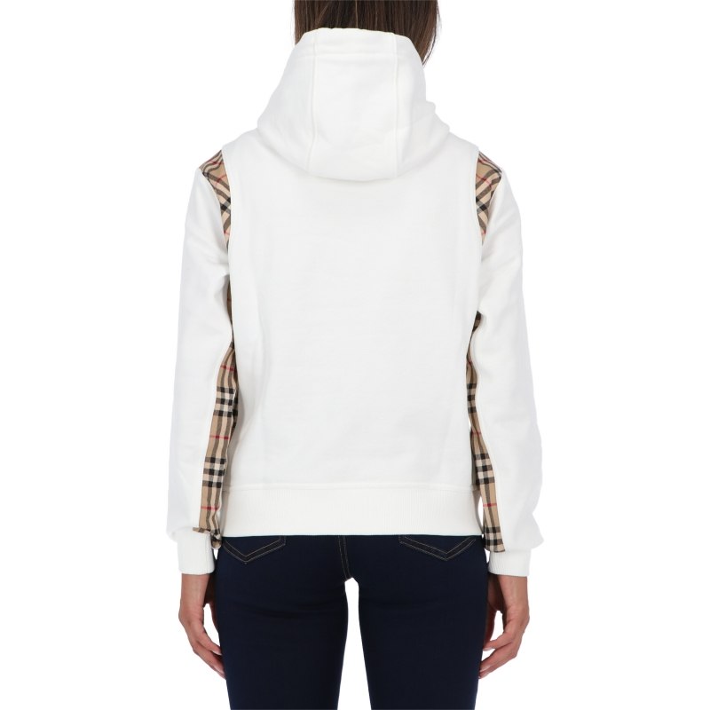 BURBERRY CHECKER COTTON SWEATSHIRT