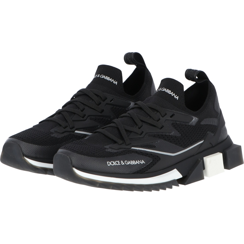 DOLCE & GABBANA STRECH MESH SORRENTO SNEAKERS WITH LOGO