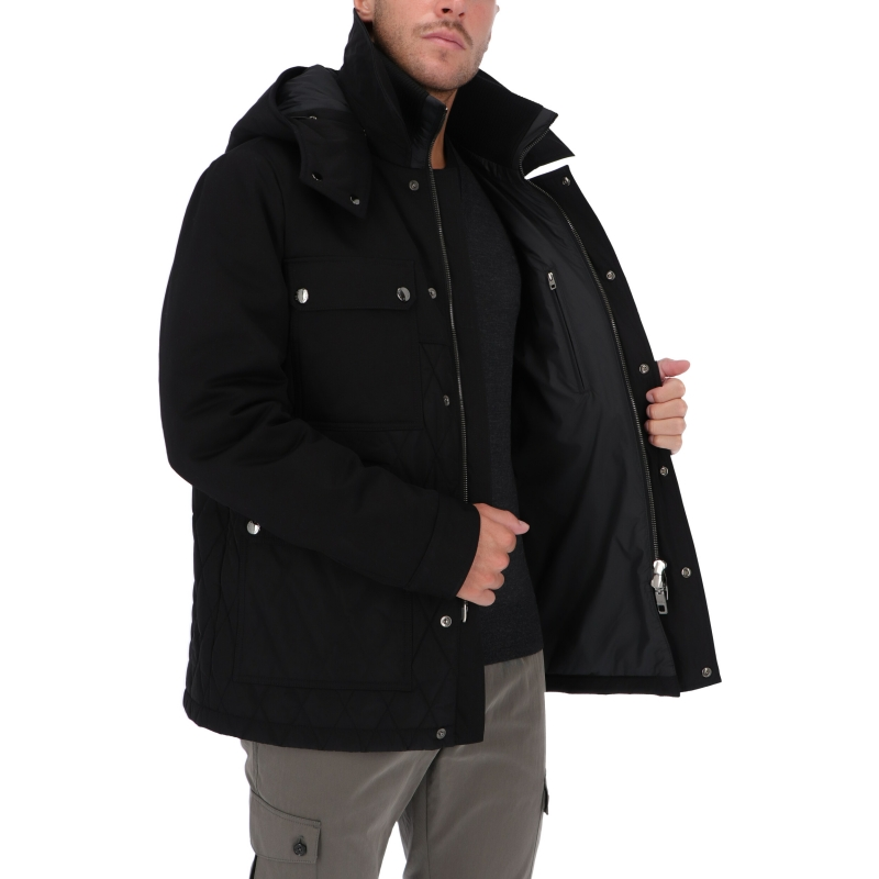 DOLCE & GABBANA QUILTED JACKET WITH REMOVABLE HOOD