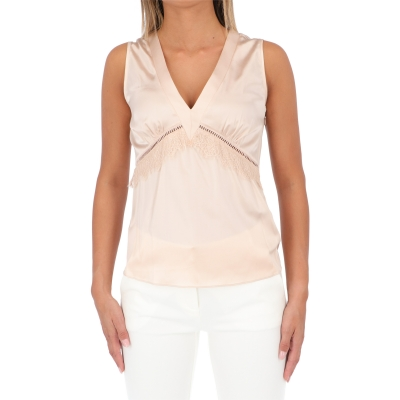 PINKO SABINO 1 SILK SATIN TOP
