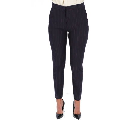 PINKO PINSTRIPE CIGARETTE-FIT TROUSERS