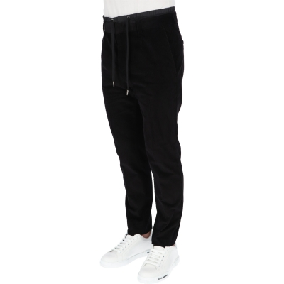 DOLCE & GABBANA SMOOTH VELVET JOGGIN TROUSERS