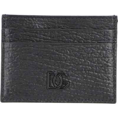 DOLCE & GABBANA CALFSKIN CARD HOLDER WITH CROSSOVER DG LOGO