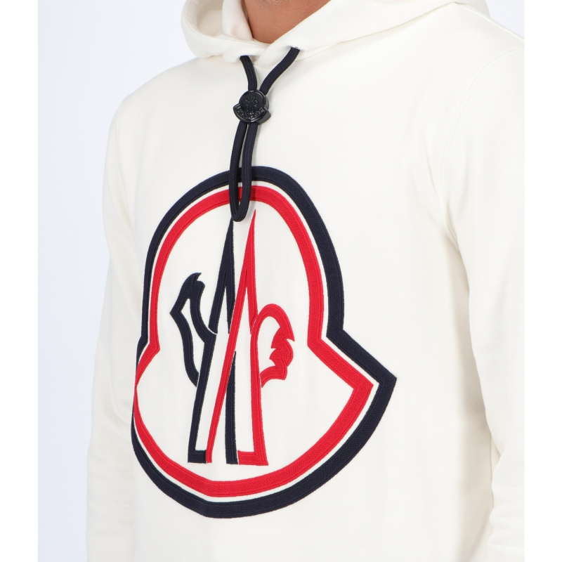 MONCLER HOODED JUMPER IN FRENCH TERRY COTON