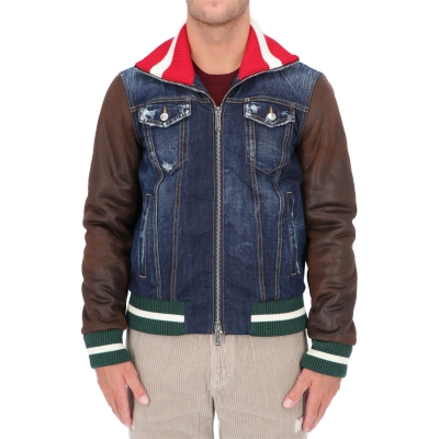 DSQUARED2 SPORT COLLAR COLLEGE JACKET