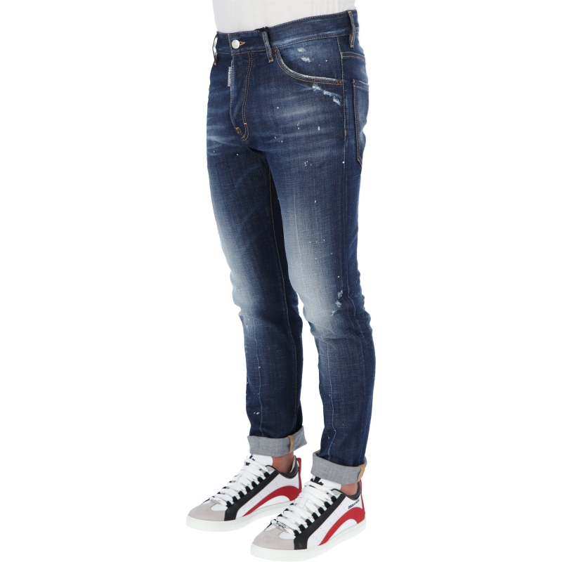 DSQUARED2 COOL GUY DARK PROPER WASH JEANS