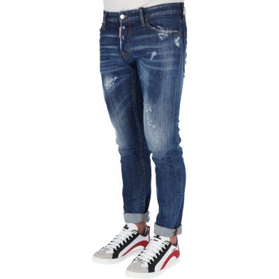 DSQUARED2 MEDIUM WASH SLIM JEANS