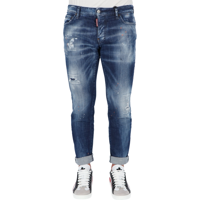 DSQUARED2 MEDIUM ORANGE COUNTRY SLIM JEANS