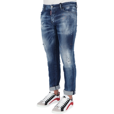 JEANS SLIM LAVAGGIO MEDIO ORANGE COUNTRY DSQUARED2