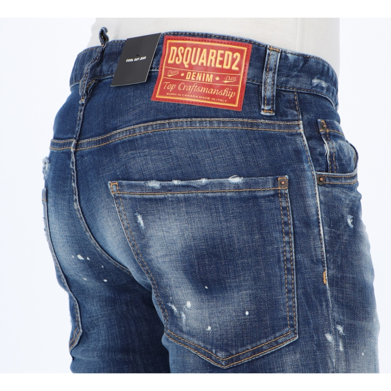 DSQUARED2 HOLY DARK WASH COOL GUY JEANS