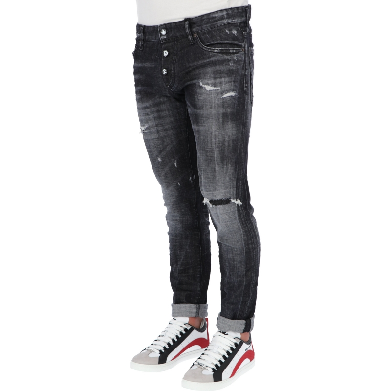 DSQUARED2 BLACK WASH SLIM JEANS