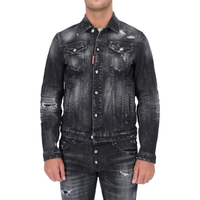 DSQUARED2 DAN JEAN BLACK WASH JAKET