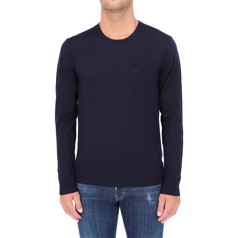 DSQUARED2 D2 EMBROIDERED SWEATER