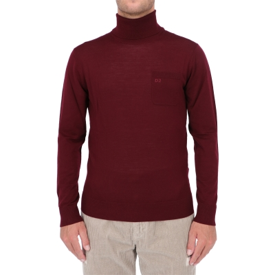 DSQUARED2 D2 EMBROIDERED TURTLENECK