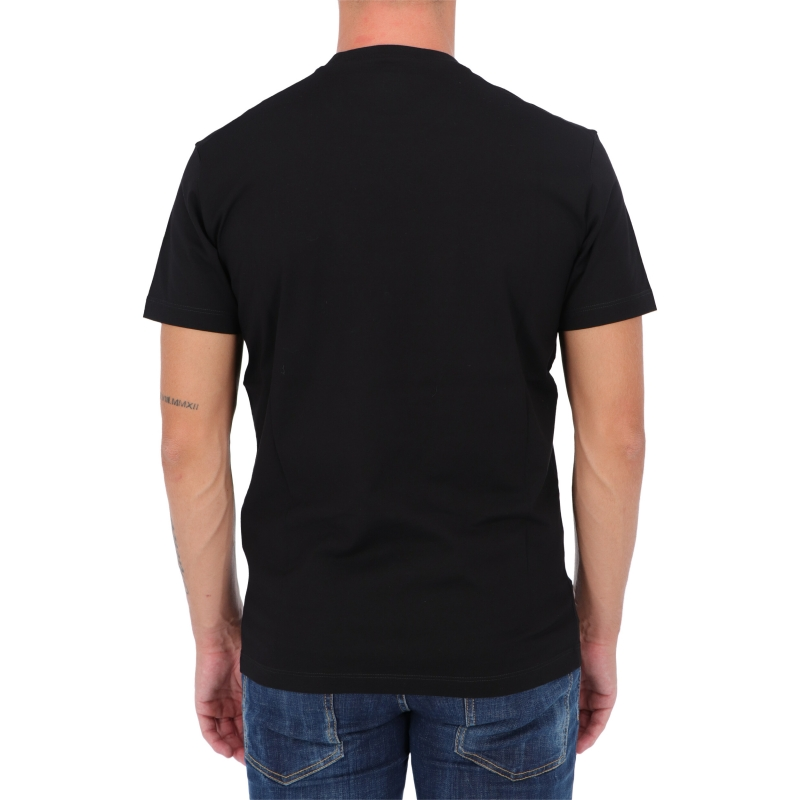 DSQUARED2 D2 LEAF BLACK T-SHIRT