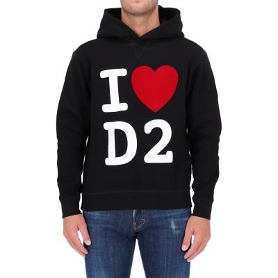 FELPA I LOVE D2 IN COTONE FELPATO DSQUARED2