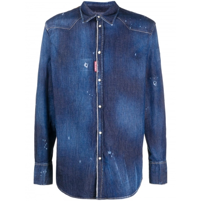 CAMICIA WESTERN DENIM DSQUARED2
